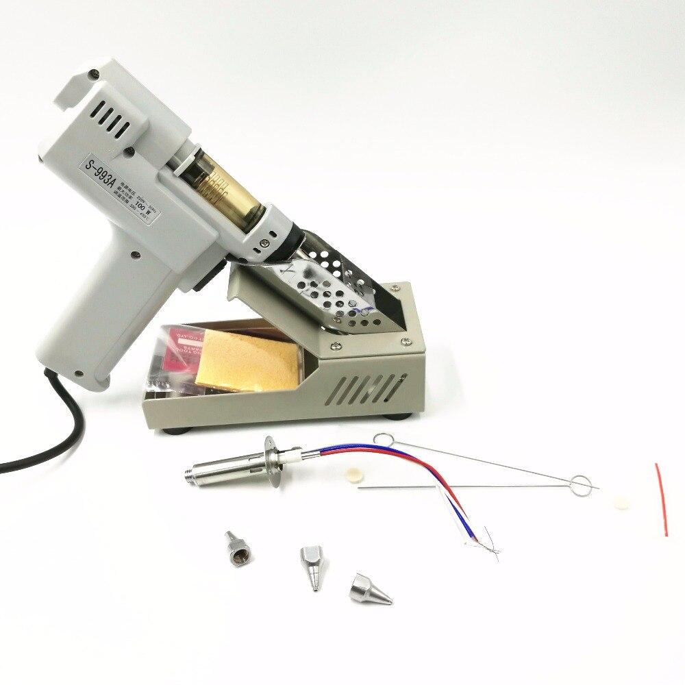 110 В/220 В распайки пушки электрические поглощают пистолет S-993A Электрический вакуумный оловоотсоса припоя Sucker Gun 100 Вт