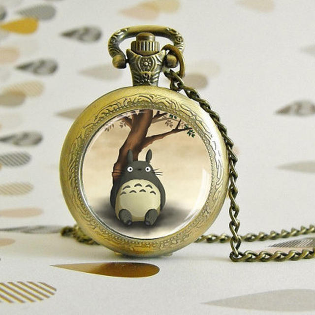 """""""Totoro Bamboo"""" kišeninių laikrodžių karoliai"""