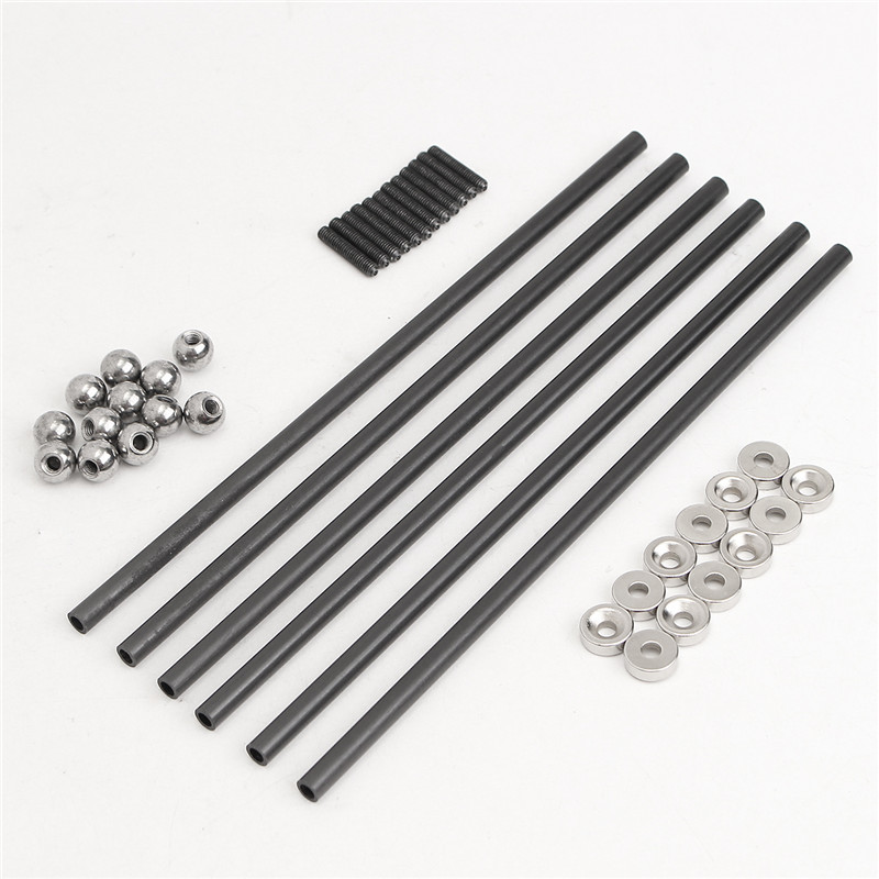 One Set Diagonal push Rod L200 Rods Arms Kit + Magnetic Ball Joint + Steel Ball for kossel 3D Printer Parts Accessories