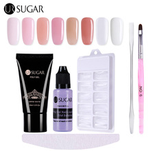 UR Sugar Pink Poly Gel Quick Building 30ml Finger Extension Nail Gel Camouflage UV LED Builder Gel 1 Set Nail Art Extend Tool