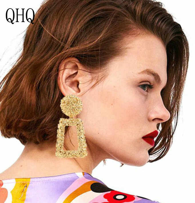 QHQ серьги-гвоздики, Геометрическая модная серьга, ювелирное изделие, кольца для ушей, прекрасные аксессуары для женщин, ювелирные изделия со звездами, ювелирное изделие, подарки, серьги-гвоздики