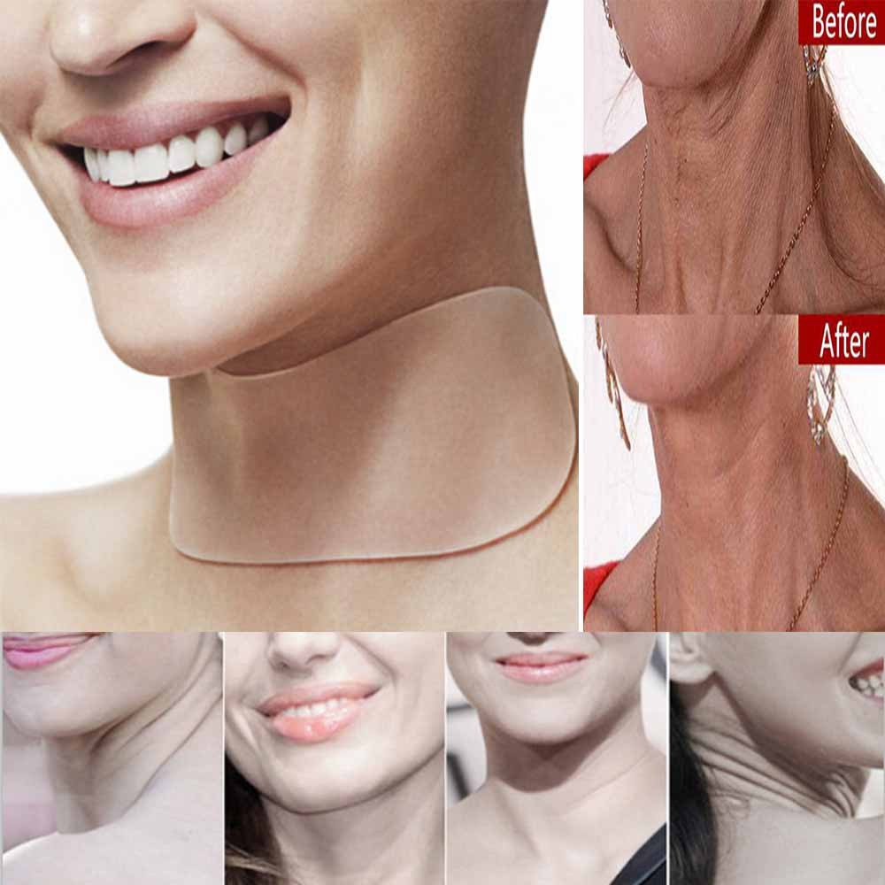 Neck CareFacial Care Tools Anti Wrinkle Chest Pad Silicone Eliminate Prevent Chest Wrinkle Eye Forehead Neck Pad Reusable Face 1
