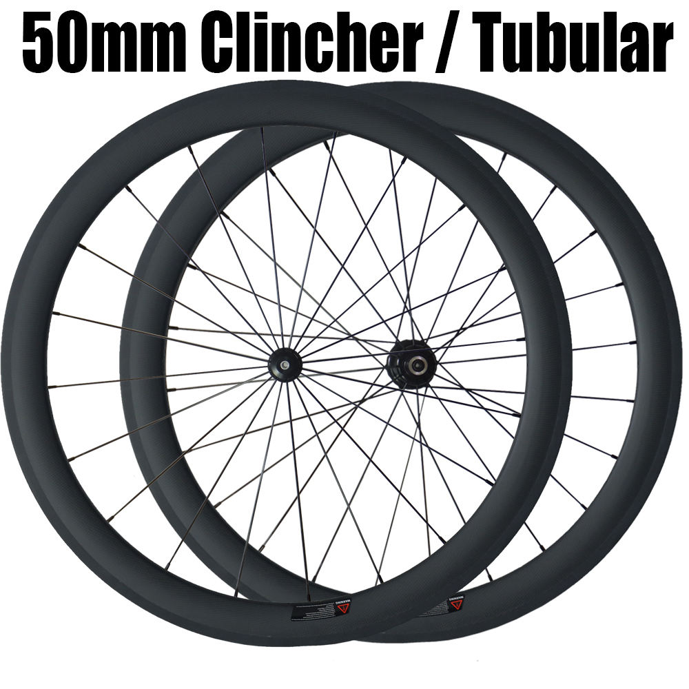 50mm Carbon Clincher Tubular Straight Pull Wheels Road Bicycle Wheelset Bike Powerway R36 Hubs Carbon Wheelset sobato bikes wheel carbon road wheels bicycle chinese oem wheelset 38mm clincher or tubular powerway r13 hub