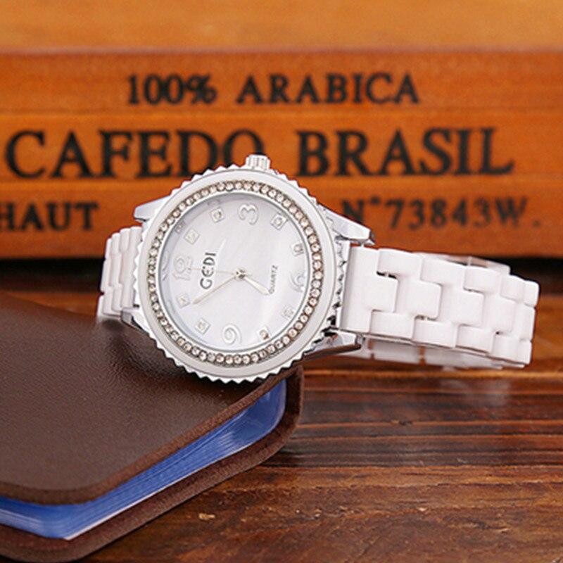 Dropshipping 2019 Shining Diamond  Women Watches Elegant Luxury Quartz Movement High Quality Ladies Dress ceramic