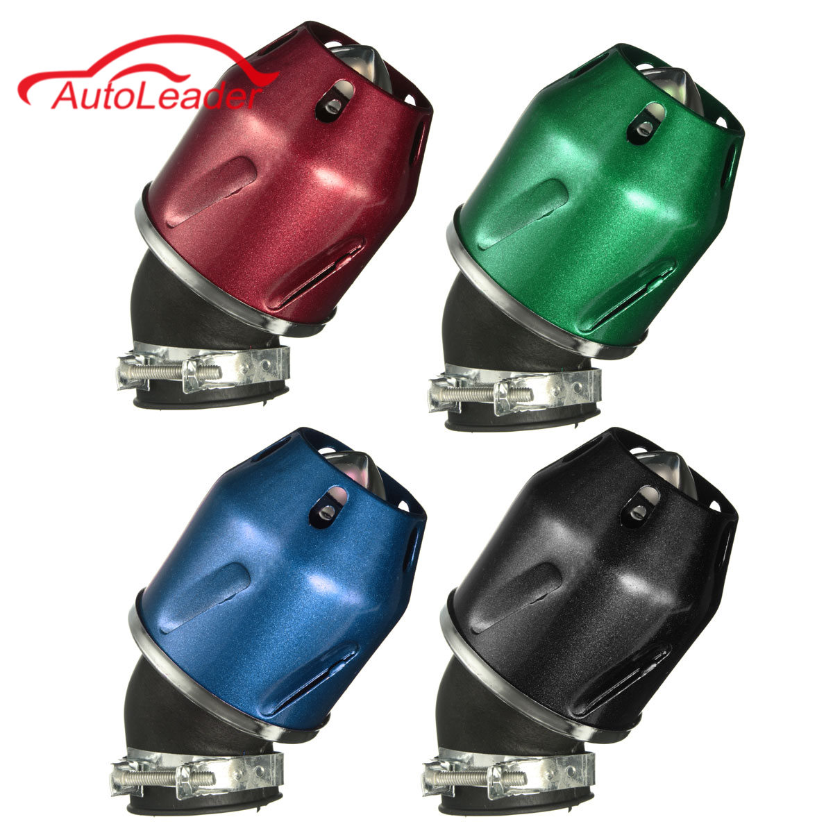 35mm Bullet Air Filter Cleaner Intake 50cc Motorcycle Scooter Dirt Pit ATV Bike Green Black Blue Red Silver envy ats dirt scooter red brand new complete