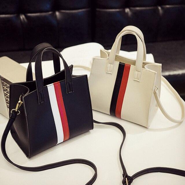 Женские сумки через плечо белый полосатый ведро небольшой лоскут Сумка  женская черная сумка через плечо дамы 95c46363b5b