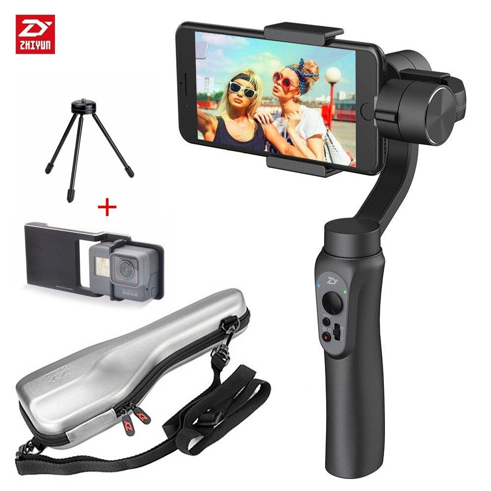 Zhiyun Lisse-Q 3-Axe Smartphone De Poche Cardan Stabilisateur pour iPhone X 8 7 Plus 6 Plus Samsung galaxy S8 + S8 S7 S6 S5 Noir