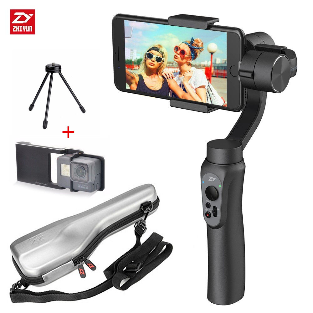 Zhiyun suave-Q 3-eje Smartphone de cardán estabilizador para iPhone 7 6X8 Plus Samsung galaxy S8 + S8 S7 S6 S5 negro