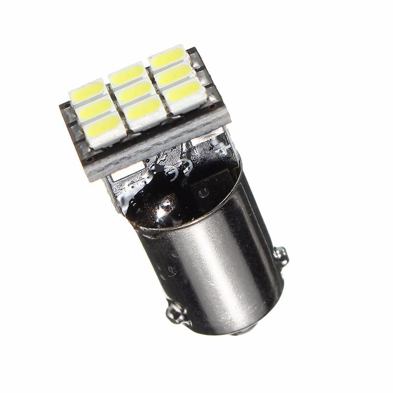 2pcs H6W BAX9S 9 SMD 1206 LED Car Light Bulb For License Plate Interior Readling Map Festoon Dome Lamp Light White 6000K 12V цена и фото