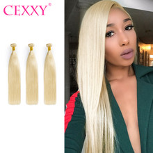 CEXXY 613 Blundles 7A Virgin Hair Straight Blonde Bundle 1/3/4 PCS Human Hair Extension Brazilian Hair Weave Bundles(China)