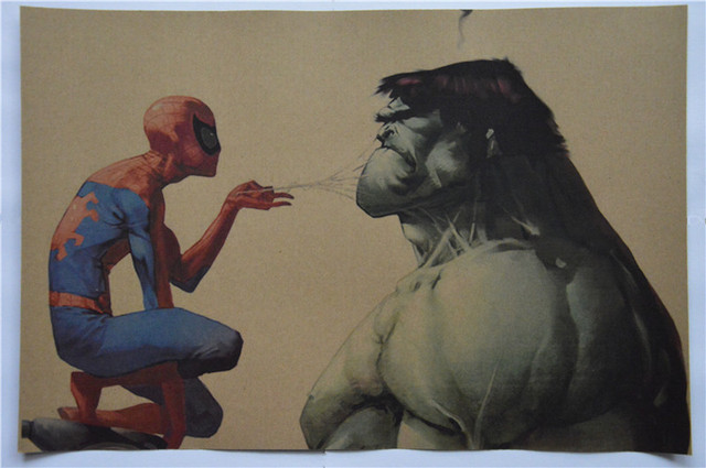 Vintage Spiderman Hulk Poster 18in. x 12in.  45x30cm