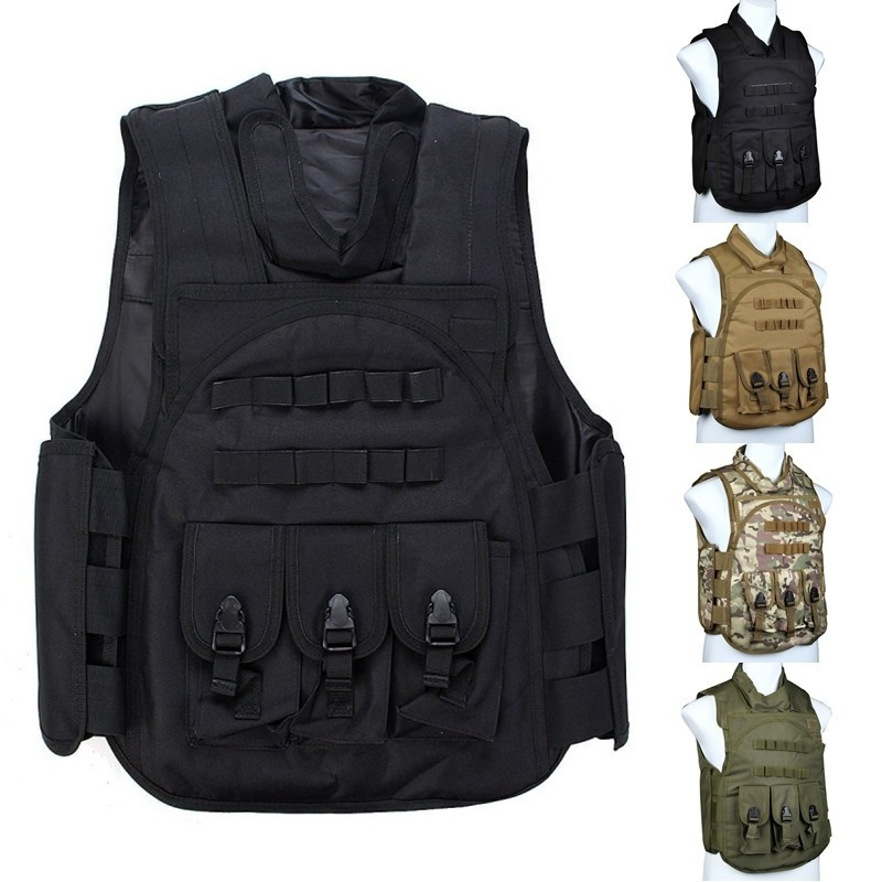 CQC SDU Body Armor Tactical Vest Military Army Police Molle Combat Plate Carrier Airsoft Paintball Hunting Assault Vest