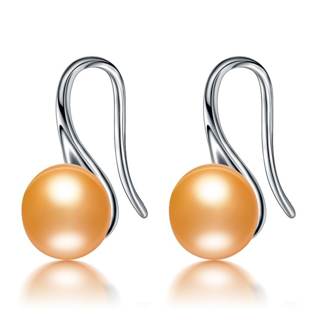 925 Sterling Silver Earrings with Natural Freshwater Pearl 8-9mm