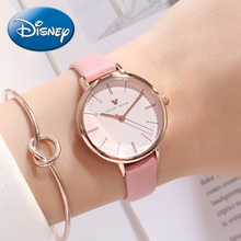Mickey Mouse Women Leather Band Japan Quartz Watch Waterproof Woman Disney Series Wrist Watches Ladies Luxury Gift Honey Girl