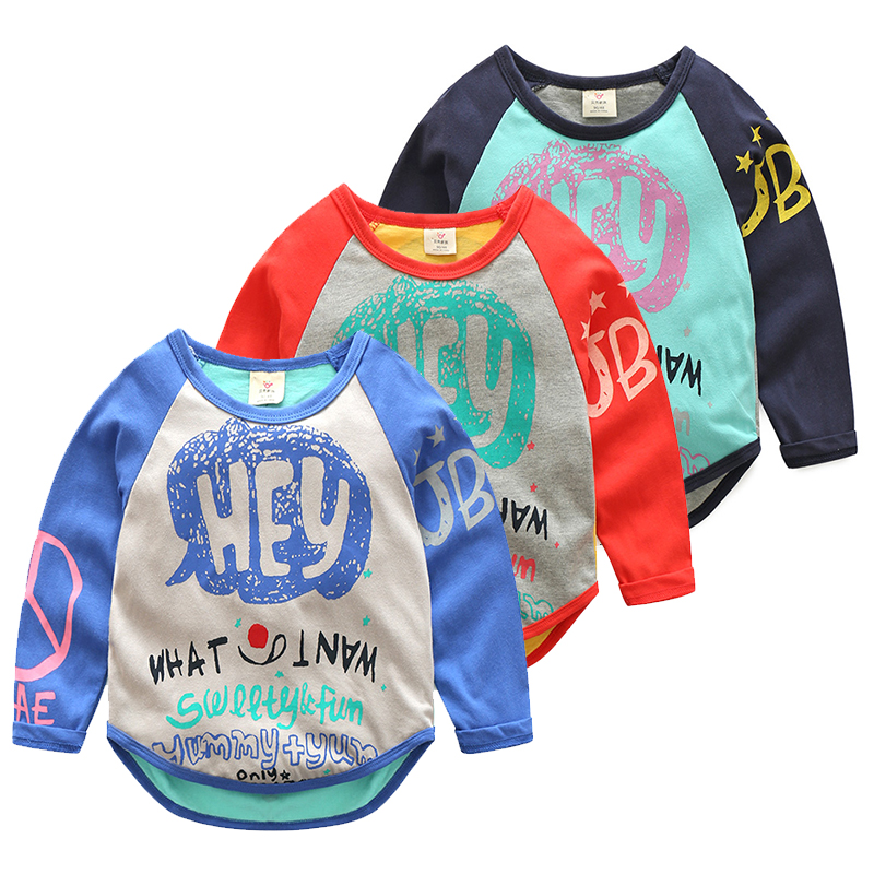 Boys Sweatshirt Boys Long Sleeve Tops Cartoon Fall T-shirts for kids sweatshirt Baby T shirt autumn boy clothes girls 1-10 years цены