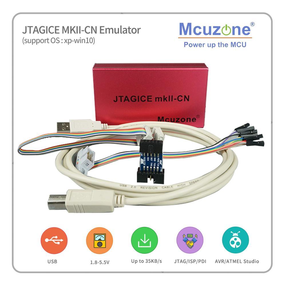 USB AVR JTAGICE MKII-CN Emulator PDI JTAG ISP Debugwire  Free Atxmega32d4 Mini Board