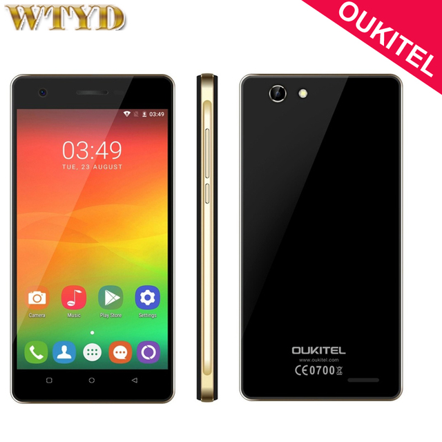 Original OUKITEL C4 ROM 8GB+RAM 1GB Network 4G 5.0 inch Android 6.0 MTK6737 Quad Core up to 1.3GHz Smartphone GPS GSM WCDMA LTE
