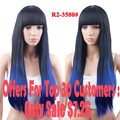 Promotions Wigs With Bangs Long Straight Hair Women's Wigs From Natural Hair Ombre Wig African American Long Wigs