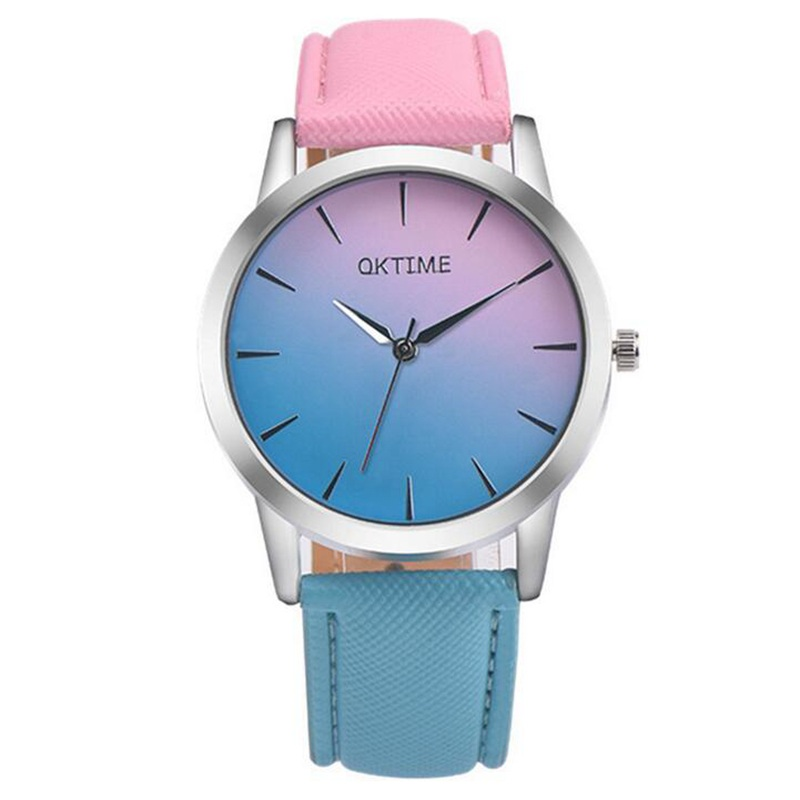 Fashion montre femme quartz watch women Rainbow Design Leather Band Analog Alloy Quartz Wrist Watch clock women gift newly design dress ladies watches women leather analog clock women hour quartz wrist watch montre femme saat erkekler hot sale