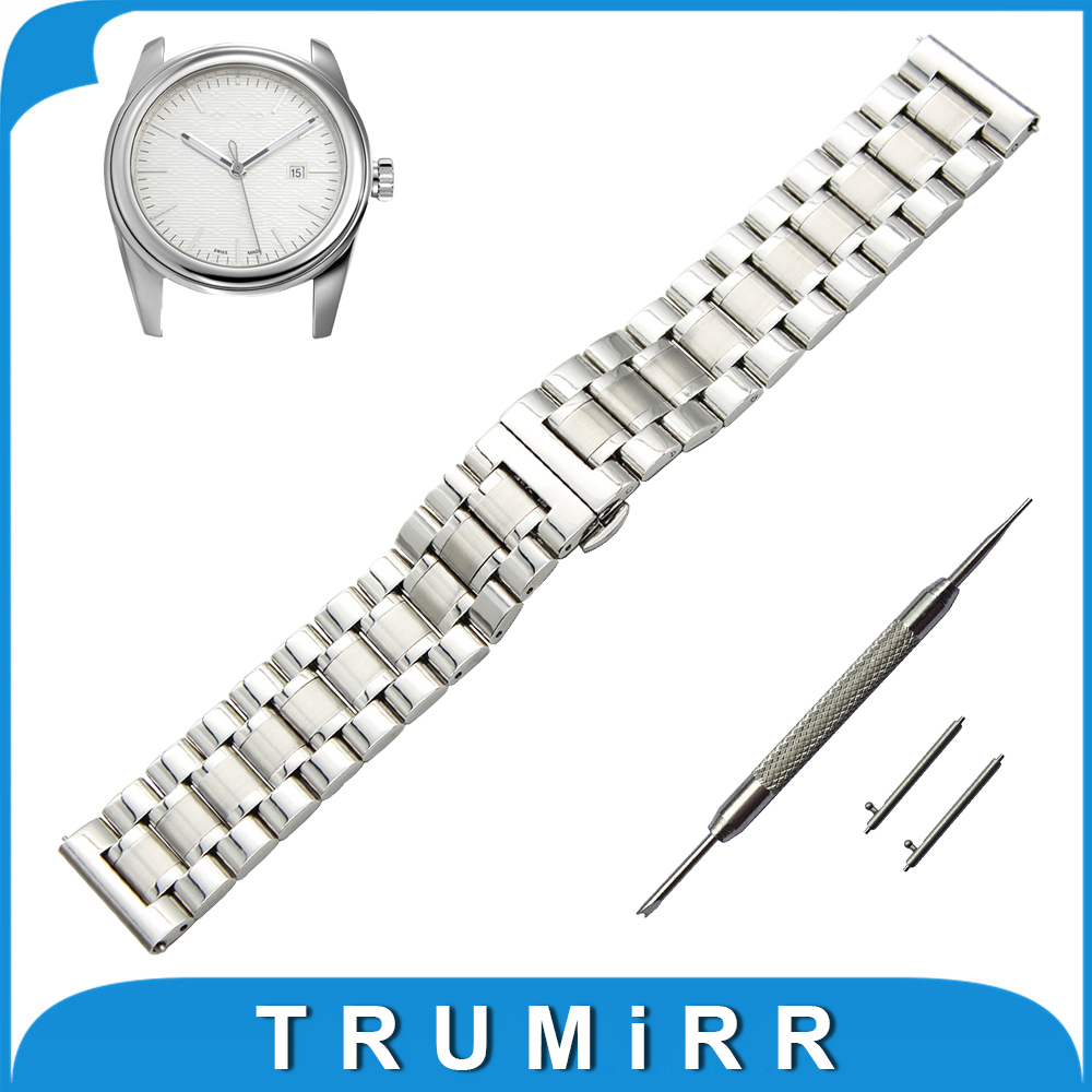 20mm 22mm Stainless Steel Watch Band for Tudor Quick Release Strap Butterfly Buckle Wrist Belt Bracelet Black Silver Grey + Tool stainless steel watch band 20mm 22mm for cartier butterfly buckle strap quick release loop belt bracelet black silver tool