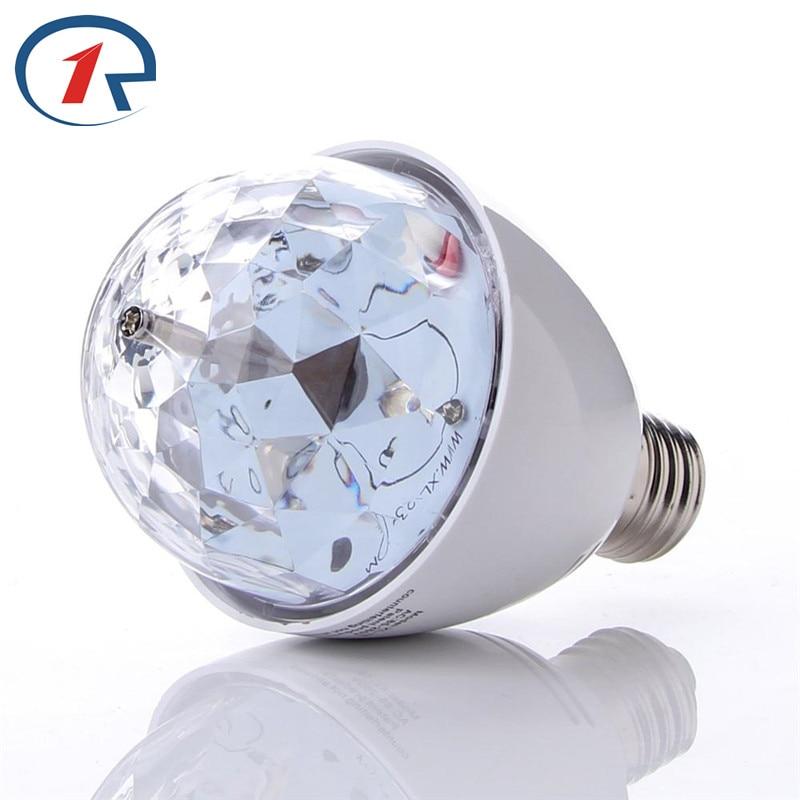 ZjRight E27 LED luz cambiable colorido 3W RGB cristal giratorio - Iluminación comercial - foto 3