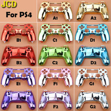 JCD Plating Housing Shell Case Front back / Upper Lower Cover for Sony PS4 DualShock 4 Controller Gamepad JDM 001 V1 Version
