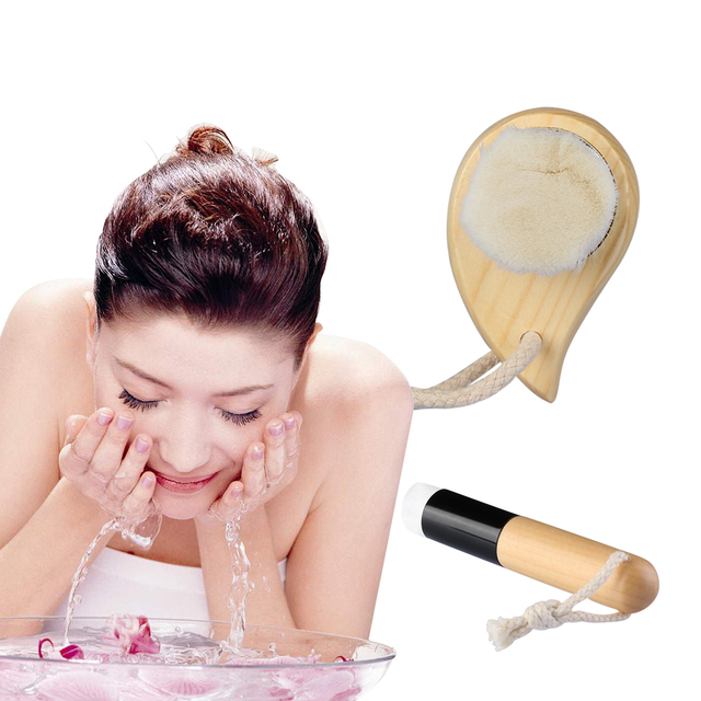 1PC  Facial Cleaning Brush Foundation Cream Brush Comma Brush Exfoliating Pore Acne Blackhead Cleaner Nose Skin Care Beauty Tool Makeup Brushes