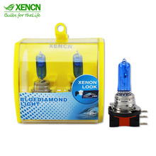 XENCN H15 12V 55/15W 5300K Blue Diamond Light Ultimate White day time running light DOT EMARK for Audi Volkswagen Golf Jetta