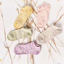 Female hosiery for spring, summer, shallow mouth contracted thick stripe low tide thick needle for socks yarn thin female socks