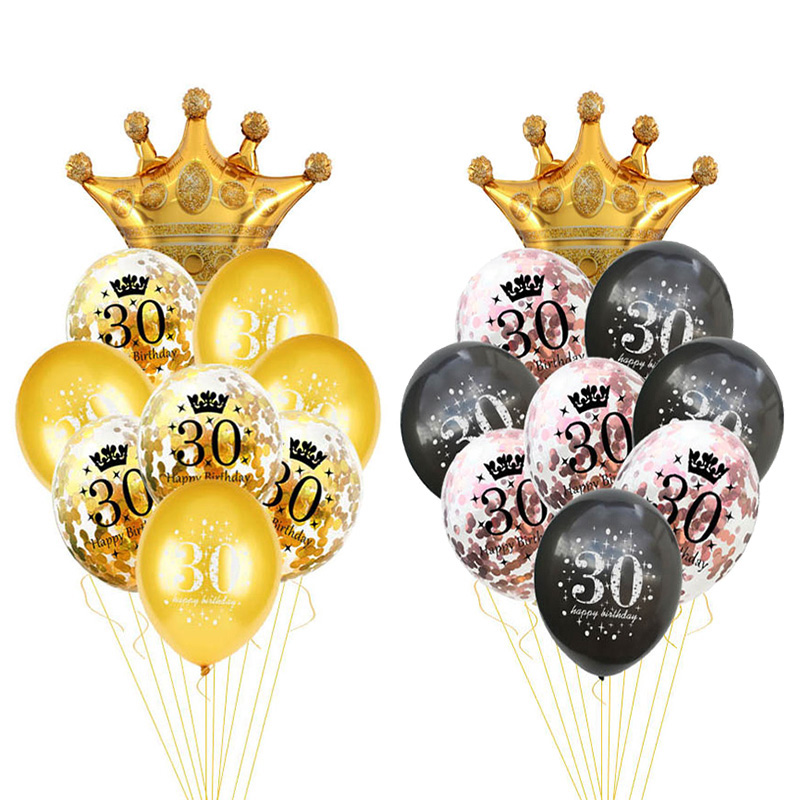 30 40 50 60 anos aniversário balão 30th aniversário decorações da festa de aniversário número baloon 50th adulto ouro preto fontes da festa de aniversário