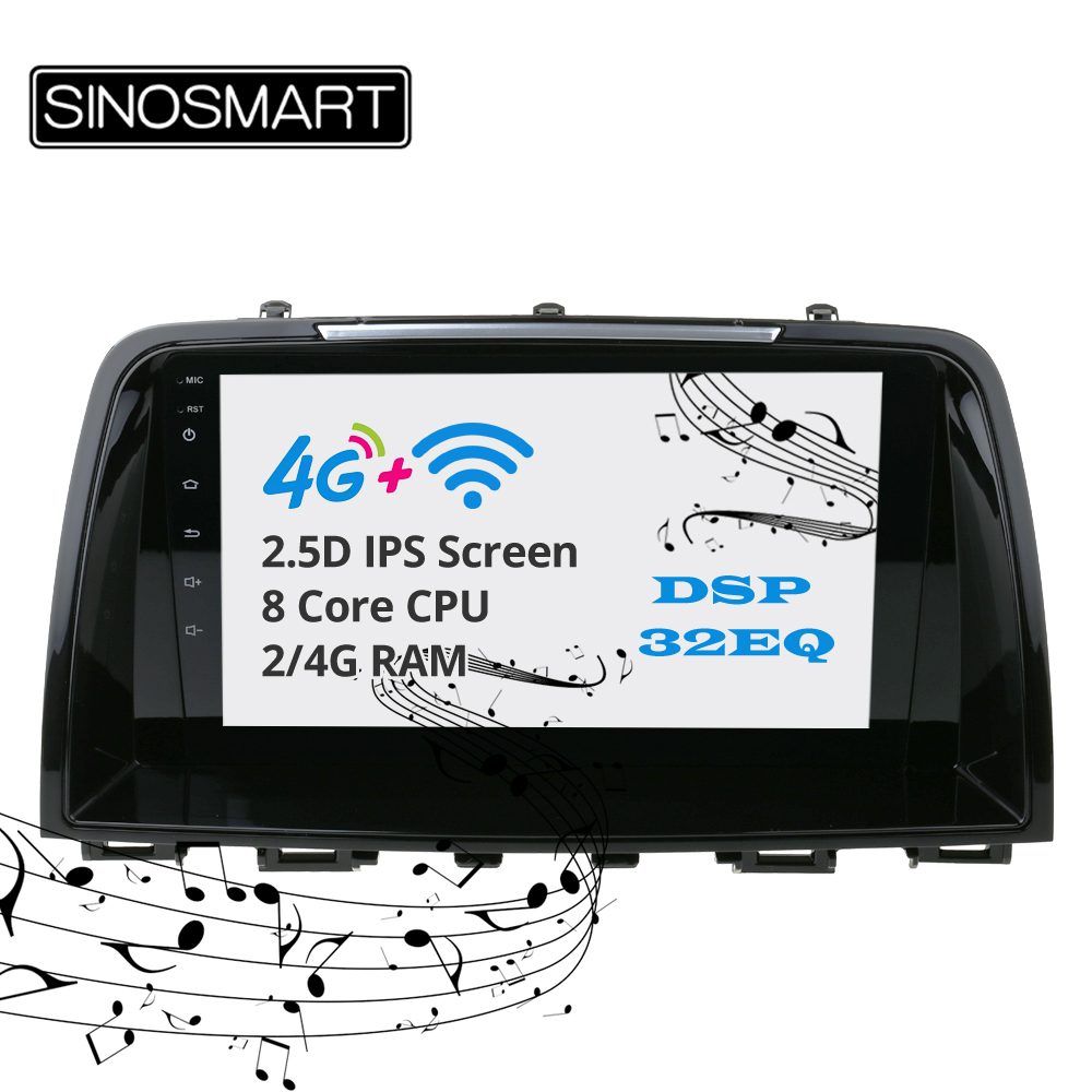 Sinosmart support BOSE IPS/QLED 2.5D screen car gps multimedia radio navigation player for <font><b>Mazda</b></font> <font><b>6</b></font> <font><b>Atenza</b></font> 2012-2014,2015,2016 image