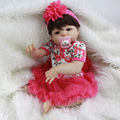 Brown Eyes White Skin Reborn Dolls Girl Toy 23 Inch Realistic Newborn Princess Babies Full Silicone Vinyl Doll For Collection