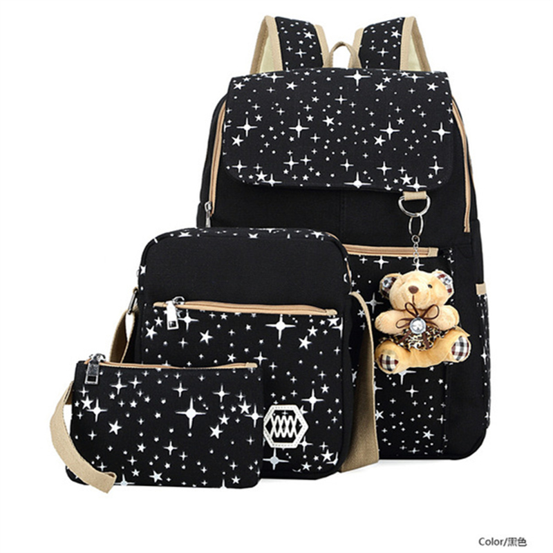 3pcs Children School Bags Backpacks With Bear Kids Bags Big Capacity Travel Bag Teenagers SchoolBag Girls Boys Rucksacks Mochila