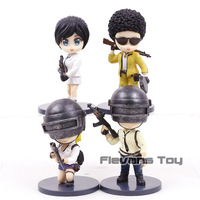 Hot Game PUBG Playerunknown's BattleGrounds Q Version Nendoroid Dolls PVC Figures Collectible Model Toys 4pcs/set