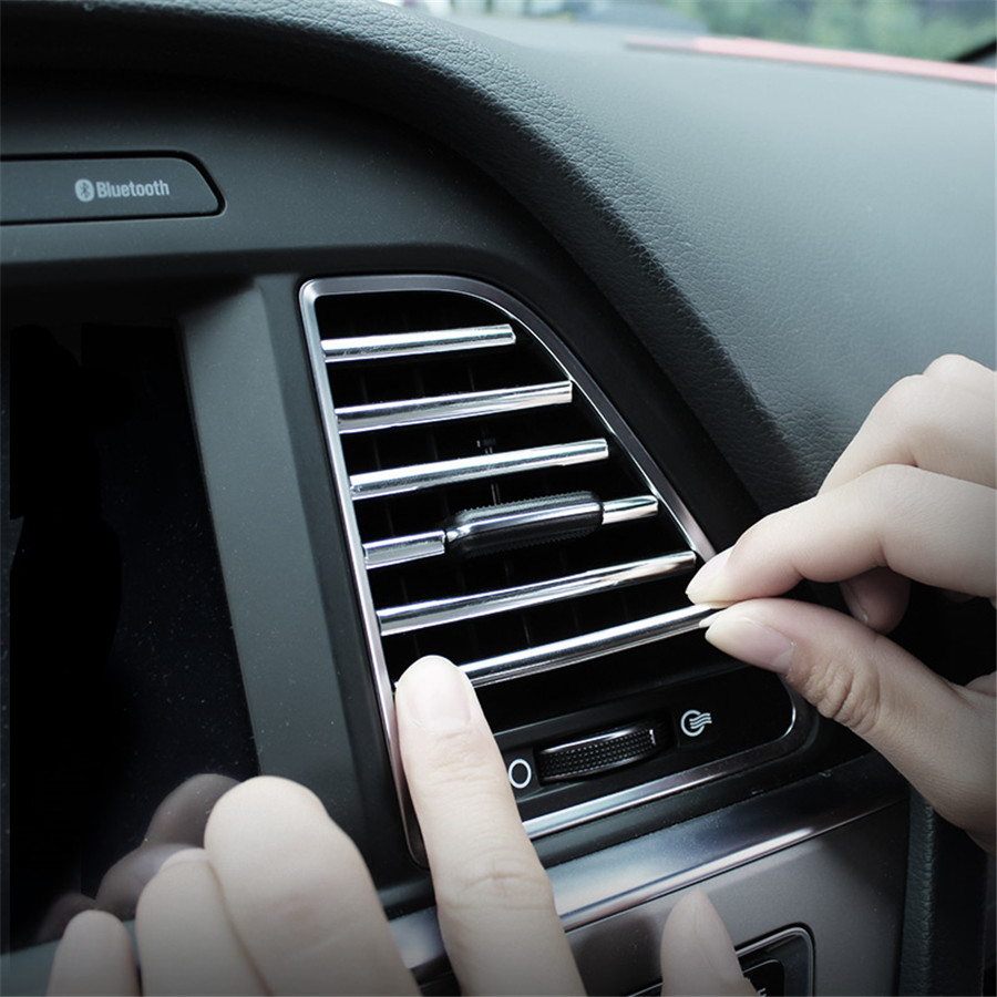 WINTUWAY Car Styling Mouldings 20cm Interior Air Vent Grille Switch Rim Trim Outlet Scratch Guard Protector Car Styling Strip in Styling Mouldings from Automobiles Motorcycles