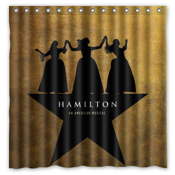 2016 hamilton broadway musical waterproof polyester shower curtain mildewproof bath curtains cortinas para banheiro 180x180cm in shower curtains from home - Musical Shower Curtains
