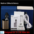 ECT C30 Mini Kit Top filling Kenjoy Met 2ml Atomizer Built-in1200mAh Battery vaporizer Box Mod Electronic Cigarette mini box mod