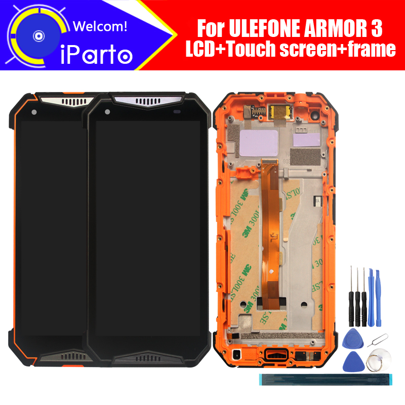 ULEFONE ARMOR 3 LCD Display+Touch Screen Digitizer+Frame Assembly 100% Original LCD+Touch Digitizer for ULEFONE ARMOR 3