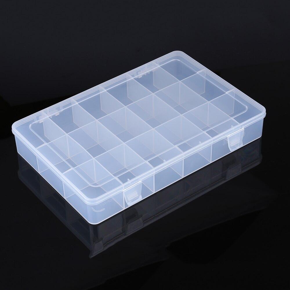 Boîte à outils en plastique Transparent boîte à outils conteneur pièces électroniques composants SMD vis bijoux boîte de stockage d'outils