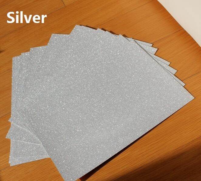 250gsm A4 Single Side Glitter Sparkle Sparkling White Silver Shiny Card Shimmer Cardstock Paper 10/20/30pcs You Pick