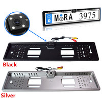 2 4GHz Wireless Waterproof 170 Degree CCD Night Vision European License Plate Frame Backup Car Number