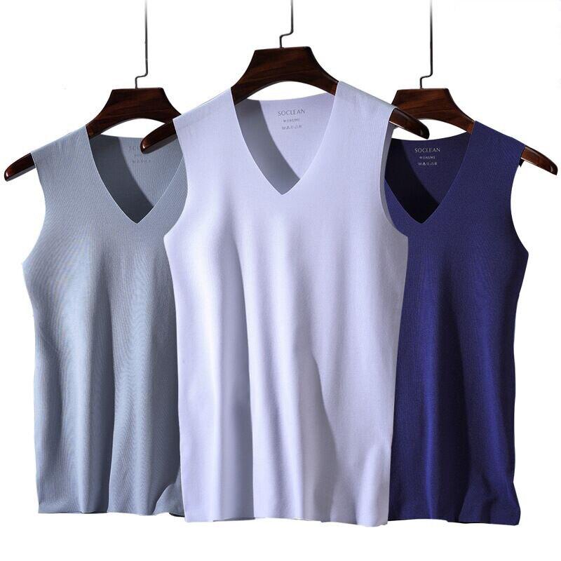 3pcs/lot Men's Underwear Modal V-neck Breathable Solid Undershirts Male Tanks Underwear Clothing Bodysuit Men Undershirt