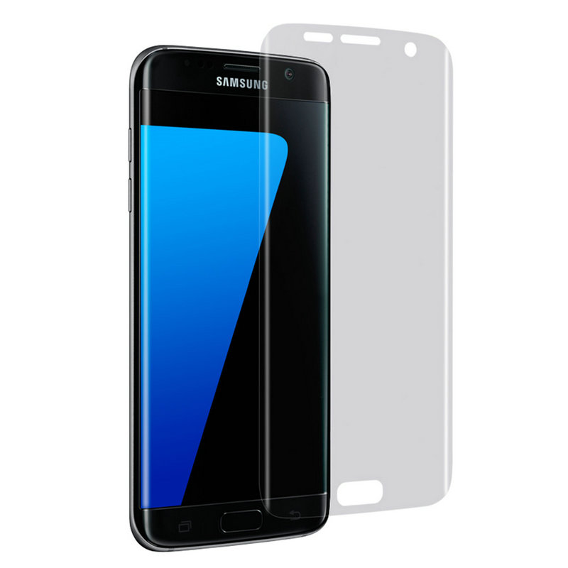 Transparent 4H Hardness Full Cover Curved Touch Screen Guard Protection Film For Samsung Galaxy S7 edge