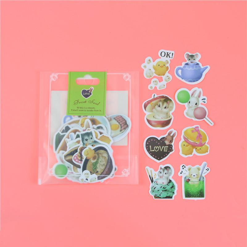 1 пакет, милые Мультяшные декоративные наклейки в Корейском стиле, клейкие наклейки, скрапбукинг, сделай сам, декоративные наклейки для дневника - Цвет: M