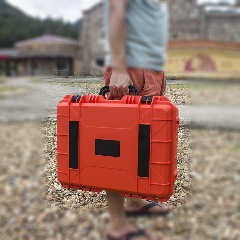 Plastik ABS Kasus Alat Impact Resistant Safety Alat Kotak Peralatan Safety Instrumen Case Portable Toolbox Shockproof dengan Busa