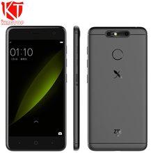 """Новый ZTE xiaoxian 5 мобильный телефон 5 """"3 ГБ 16 ГБ 4 ядра 2.5D изогнутые Экран Android 7.1 Dual сзади Камера 13MP + 2MP frigerprint телефон"""