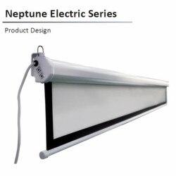 N12VB 4:3  84 100 120 133 150 cal neptun elektryczny 2 serii motorowe elektryczny ekran projekcyjny z matte biały B