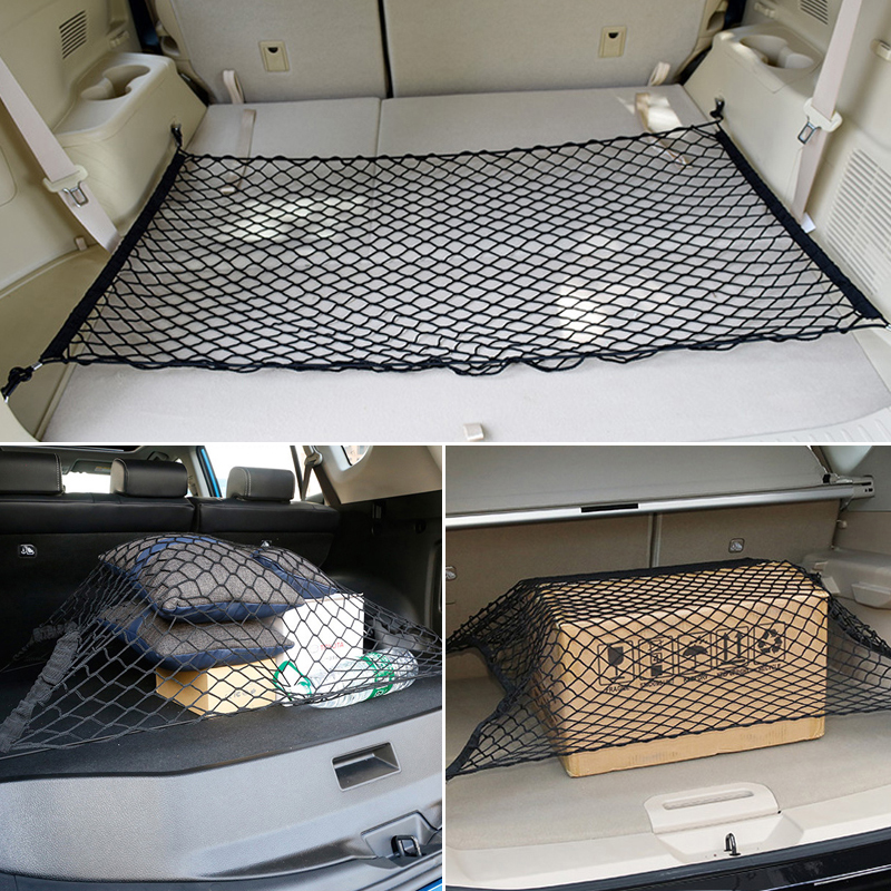 Car Trunk Storage Elastic Mesh Net 4 Hooks For Mitsubishi Asx Lancer Outlander Pajero Sport 9 L200 Colt Carisma Galant Grandis