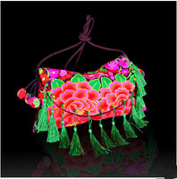 New Coming Floral Embroidered Tassel Bags Hot Women S Nice Embroidery Shoulder Cross Body Bags Top