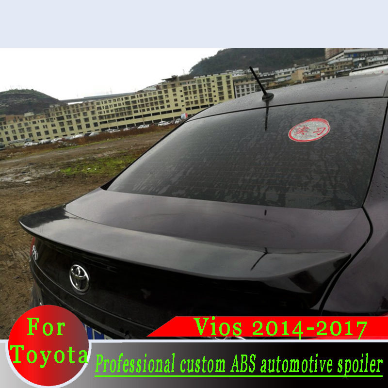 2014-2017 for <font><b>Toyota</b></font> Vios Primer or Black or White DIY Color ABS Material Professional Beautify Spoiler Vios Thickened Spoiler image